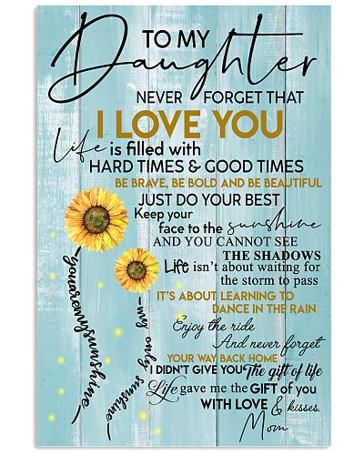 To My Granddaughter Never Forget That I Love You