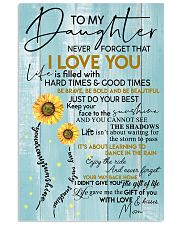 To My Granddaughter Never Forget That I Love You 11x17 Poster front