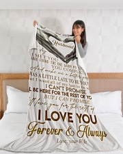 "To My Husband Large Fleece Blanket - 60"" x 80"" aos-coral-fleece-blanket-60x80-lifestyle-front-11"