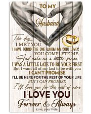 To My Husband The Day I Met You 11x17 Poster front