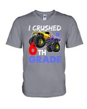 I Crushed 6th Grade V-Neck T-Shirt thumbnail
