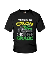 Monster Truck Crush 2nd Grade  Youth T-Shirt front