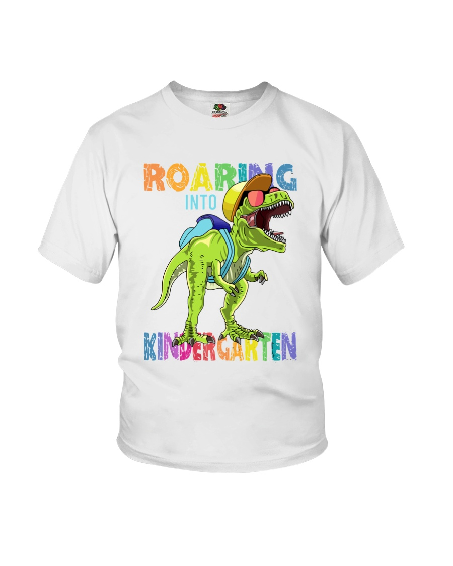 Family Roaring Into Kindergarten Youth T-Shirt