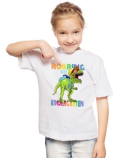 Family Roaring Into Kindergarten Youth T-Shirt lifestyle-youth-tshirt-front-2