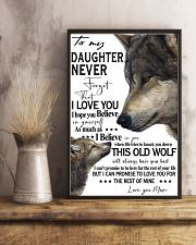 To My Daughter Never Forget That I Love You 11x17 Poster lifestyle-poster-3