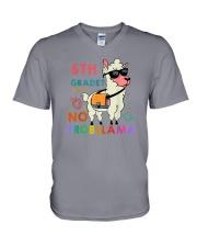 6th Grade No Probllama V-Neck T-Shirt thumbnail