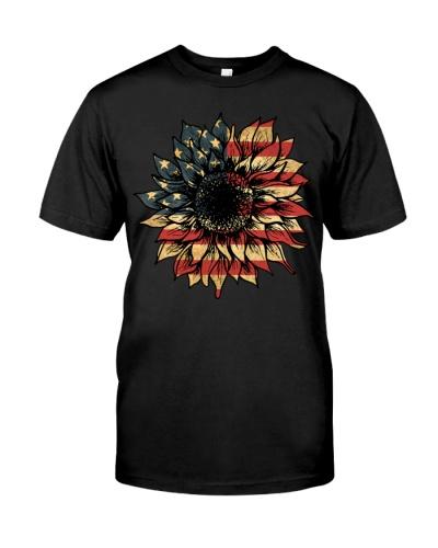 US Flag Sunflower