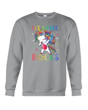 Unicorn 1st Grade Rocks Crewneck Sweatshirt thumbnail