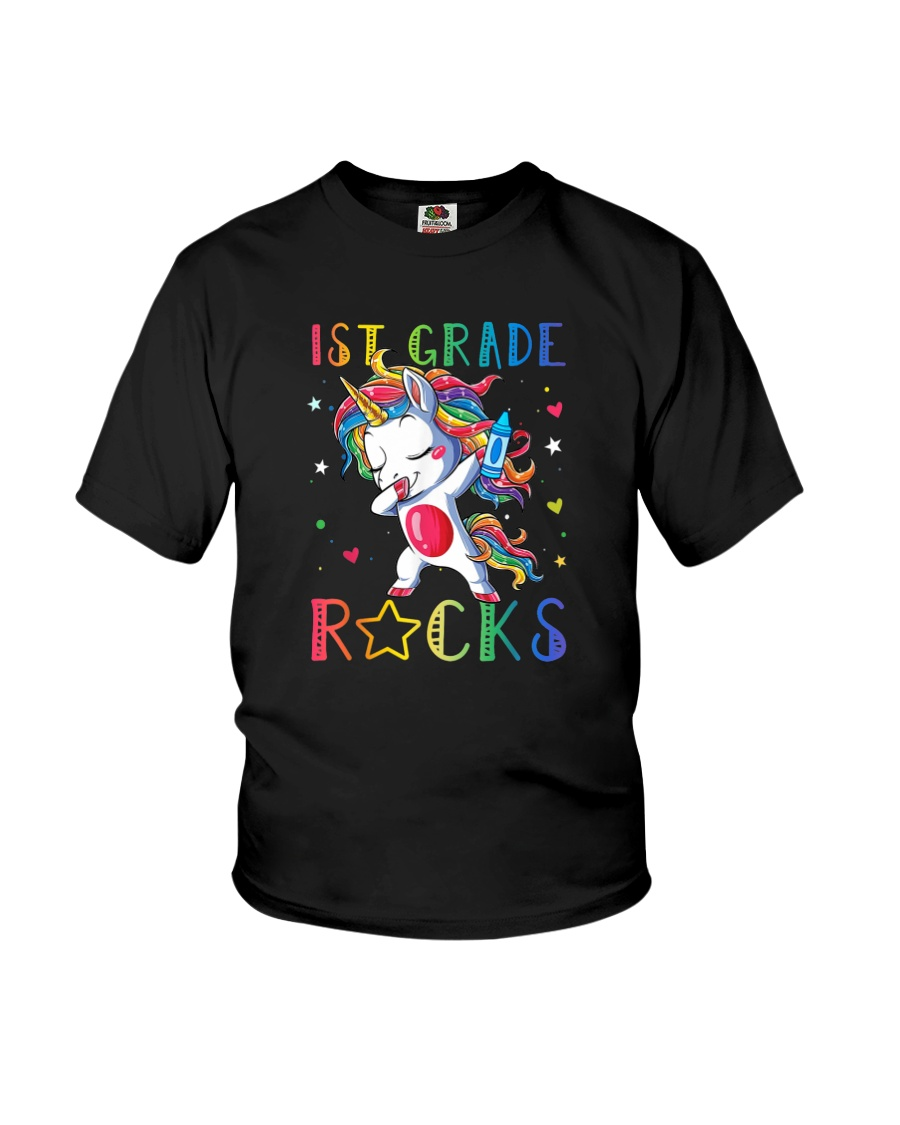Unicorn 1st Grade Rocks Youth T-Shirt