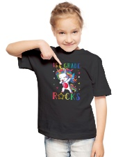 Unicorn 1st Grade Rocks Youth T-Shirt lifestyle-youth-tshirt-front-2