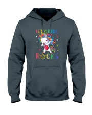Unicorn 1st Grade Rocks Hooded Sweatshirt thumbnail