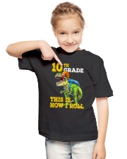 10th Grade  Dinosaur How I Roll  Youth T-Shirt lifestyle-youth-tshirt-front-2