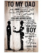 To My Dad Boy 11x17 Poster front