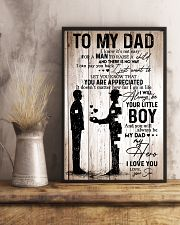To My Dad Boy 11x17 Poster lifestyle-poster-3