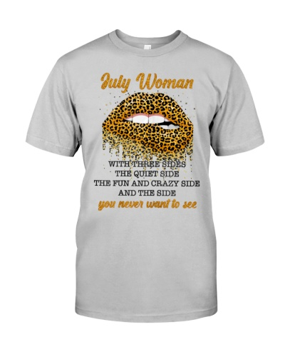 Woman With Three Sides Leopard Lips July