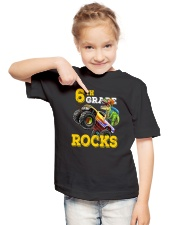 6th Grade Truck Dino Rocks  Youth T-Shirt lifestyle-youth-tshirt-front-2