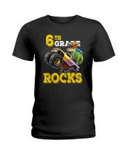 6th Grade Truck Dino Rocks  Ladies T-Shirt thumbnail