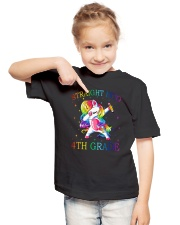 Unicorn Straight Into 4th Grade Youth T-Shirt lifestyle-youth-tshirt-front-2