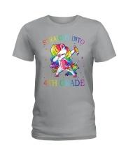 Unicorn Straight Into 4th Grade Ladies T-Shirt thumbnail