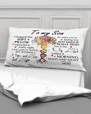 To My Son I Hugged This Soft Pillow Rectangular Pillowcase aos-pillow-rectangular-front-lifestyle-03