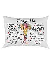 To My Son I Hugged This Soft Pillow Rectangular Pillowcase front