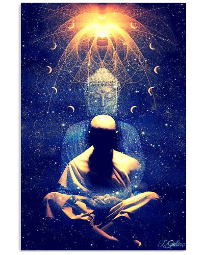 Buddha Monk in Universe