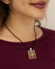 Amazing Buddha Buddhism Accessories necklace Cord Rectangle Necklace aos-necklace-square-cord-lifestyle-1