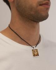 Amazing Buddha Buddhism Accessories necklace Cord Rectangle Necklace aos-necklace-square-cord-lifestyle-2