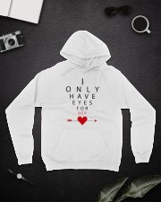 I Only Have Eyes for Her Hooded Sweatshirt lifestyle-unisex-hoodie-front-9