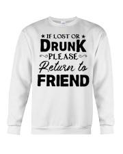 if lost or drunk please Crewneck Sweatshirt thumbnail