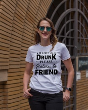 if lost or drunk please Ladies T-Shirt lifestyle-women-crewneck-front-2