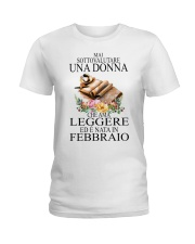 reading woman italian 02 45834276 Ladies T-Shirt front