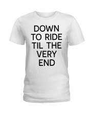 Down to ride Ladies T-Shirt front