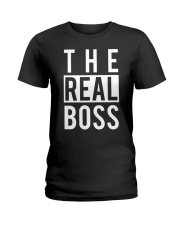 The real boss Ladies T-Shirt front