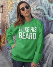I like his beard Crewneck Sweatshirt lifestyle-unisex-sweatshirt-front-3