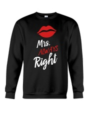 Mrs always right Crewneck Sweatshirt thumbnail