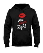 Mrs always right Hooded Sweatshirt thumbnail