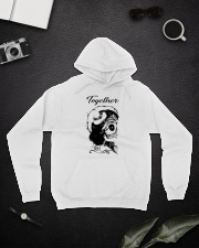 Boomts couple Hooded Sweatshirt lifestyle-unisex-hoodie-front-9