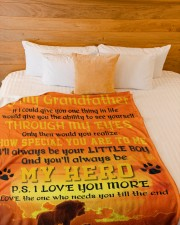 """To My Grandfather Large Fleece Blanket - 60"""" x 80"""" aos-coral-fleece-blanket-60x80-lifestyle-front-02a"""