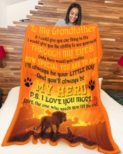 """To My Grandfather Large Fleece Blanket - 60"""" x 80"""" aos-coral-fleece-blanket-60x80-lifestyle-front-04a"""