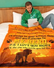 """To My Grandfather Large Fleece Blanket - 60"""" x 80"""" aos-coral-fleece-blanket-60x80-lifestyle-front-06"""
