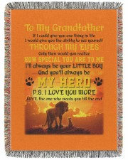 To My Grandfather 60x80 - Woven Blanket thumbnail