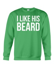 I like his beard Crewneck Sweatshirt tile