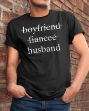 boyfriend fiancee husband Classic T-Shirt apparel-classic-tshirt-lifestyle-26