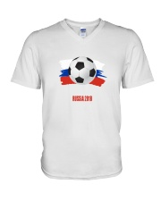 RUSSIA WORLD CUP 2018  V-Neck T-Shirt thumbnail