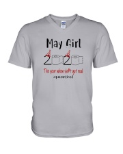 May Girl 2020 Shit Got Real V-Neck T-Shirt thumbnail