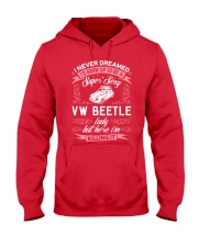 Super Sexy  VW Beetle Lady Hooded Sweatshirt front