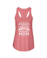I'm a proud daughter of a freaking awesome mom Ladies Flowy Tank front