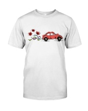 VW BEETLE FLOWER  Classic T-Shirt front