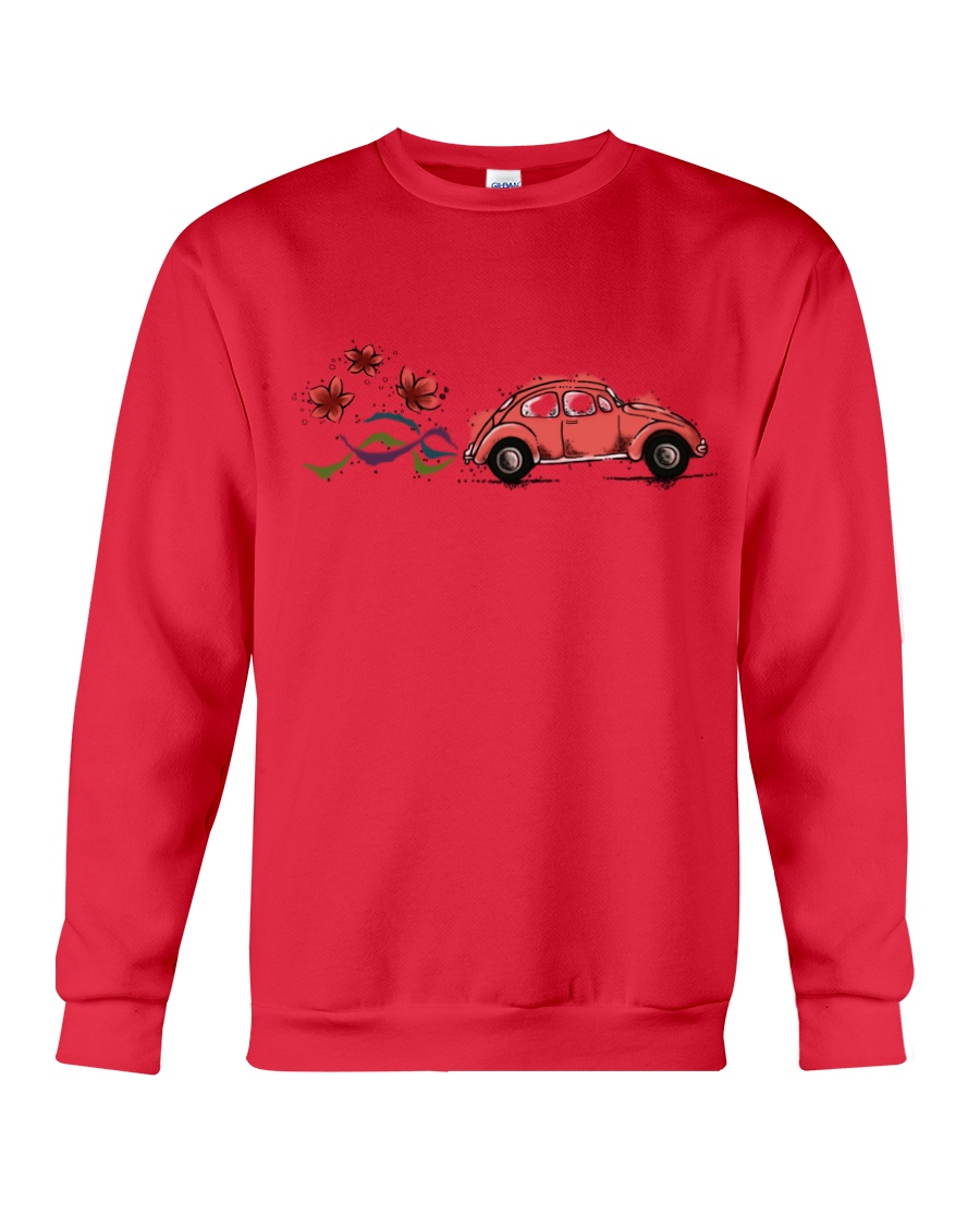 VW BEETLE FLOWER  Crewneck Sweatshirt